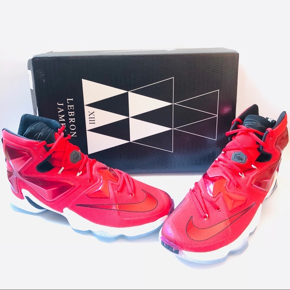 6462b43bae1 Nike LeBron James XIII Mens Red Basketball Shoes